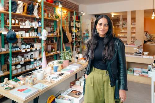 Entrepreneur Standing In Her Store Photo