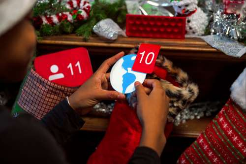 Facebook Notification Gift in Stocking Photo