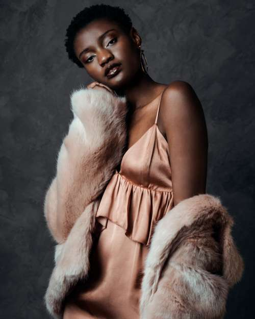 Fashion Model In Pink Photo