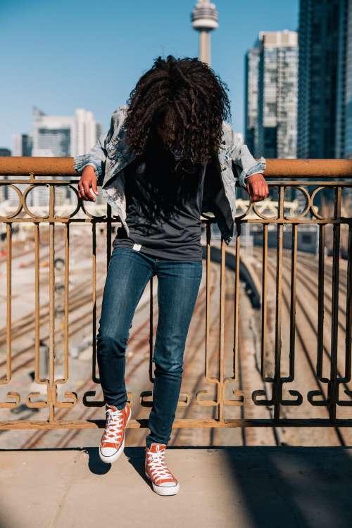 Fashionable Woman In Toronto Photo
