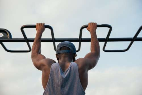 Fit Man Pull Ups Photo