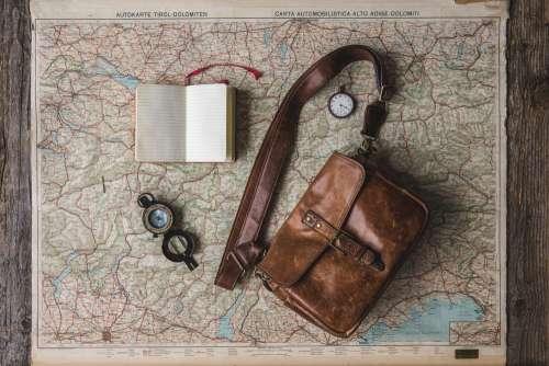 Flatlay Of Travel Essentials Photo