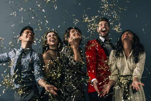 Friends Celebrate In Formal Fashion Photo