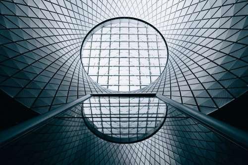 Geometric Glass City Architecture Photo