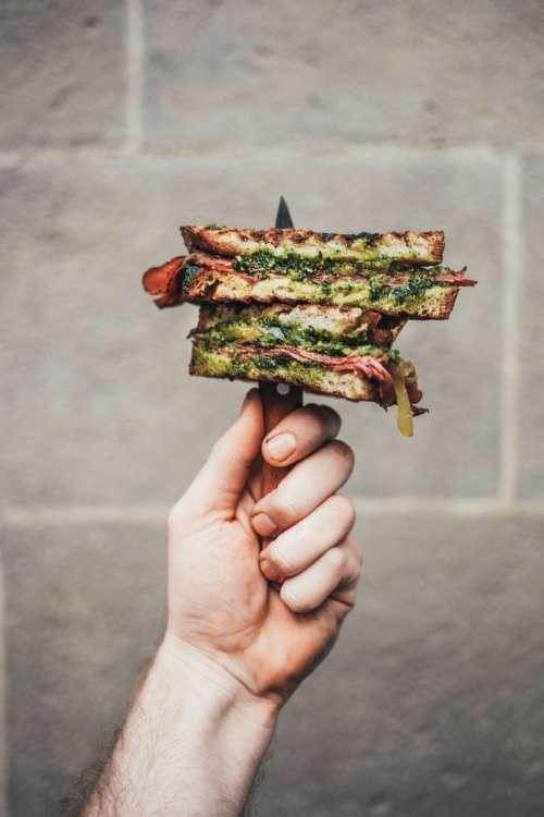 Gourmet Pesto Sandwich Photo