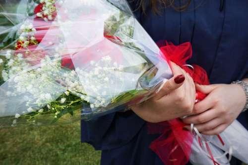 Graduate With Bouquet Photo