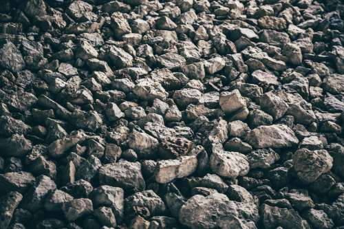Ground Covered By Jagged Rocks and Boulders Photo