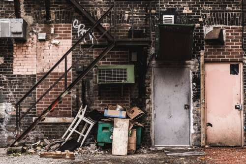 Grungy Back Alley In The City Photo