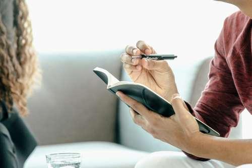 Hands Pen Notebook Man Photo