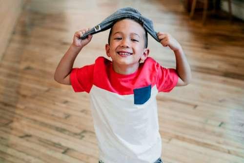 Happy Boy Poses Photo