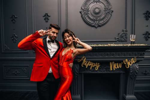 Happy New Year Fashion Photo