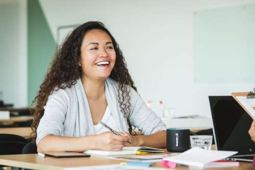 Happy Woman At Work Photo