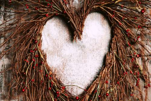 Heart Shaped Holiday Wreath Photo