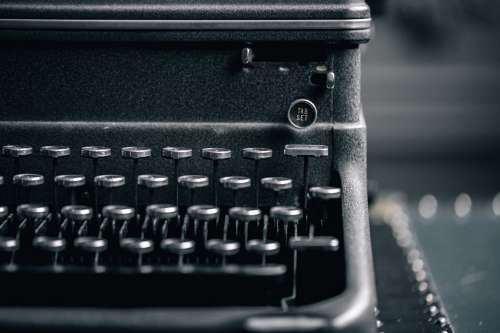 Heavy Antique Typewriter Photo