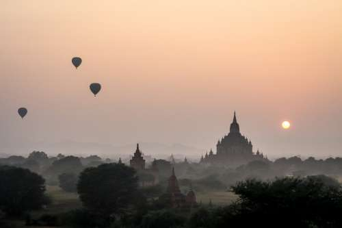 Hot Air Balloons Myanmar Photo