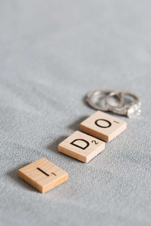 I Do With Wedding Rings Photo