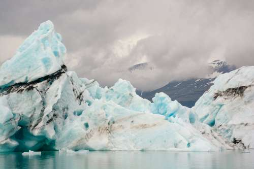 Icebergs And Glaciers In Iceland Photo