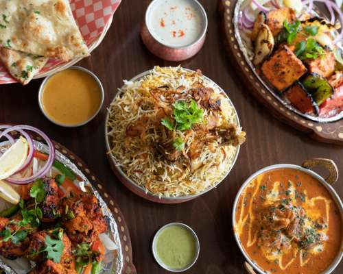 Indian Food On Restaurant Table Photo