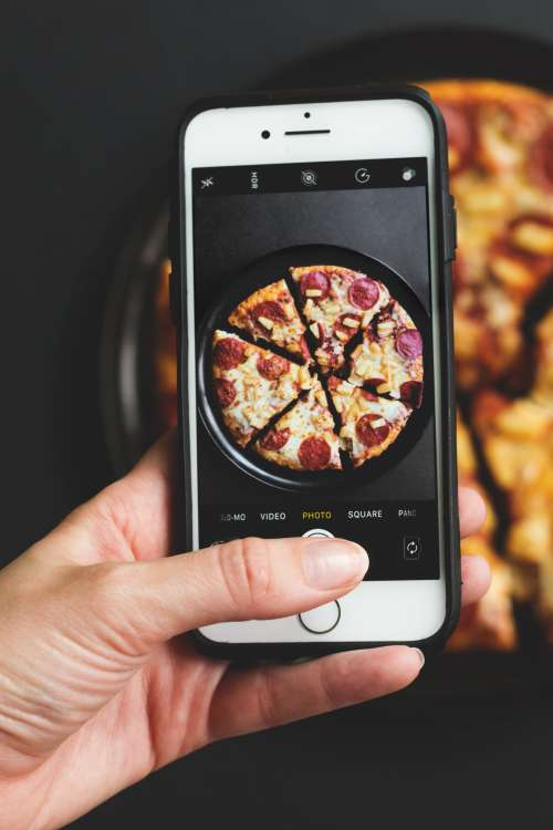 Iphone Photography Of Pizza Photo