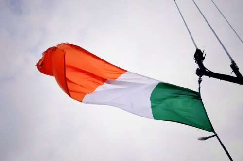 Irish Flag Flying Photo