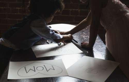 Kids Do Artwork For Mom Photo