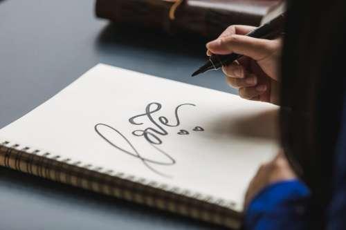 L O V E Love Writing Photo