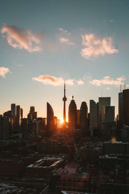 Last Rays Of Sun in The City Photo