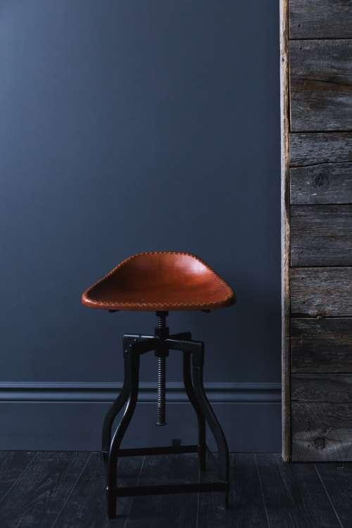 Leather Seat Stool Photo