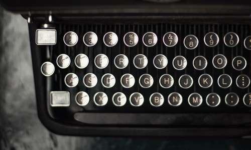Letter Keys On A Typewriter Photo