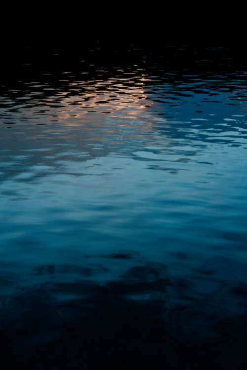 Light Reflects On Water Photo