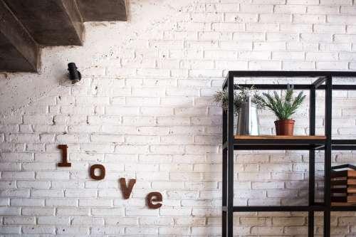 Living Room Brick Wall Photo