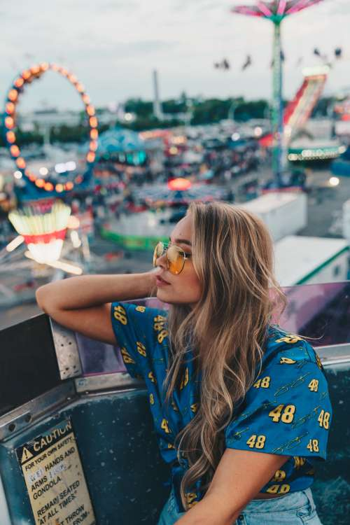 Long Blond Haired Woman Photo
