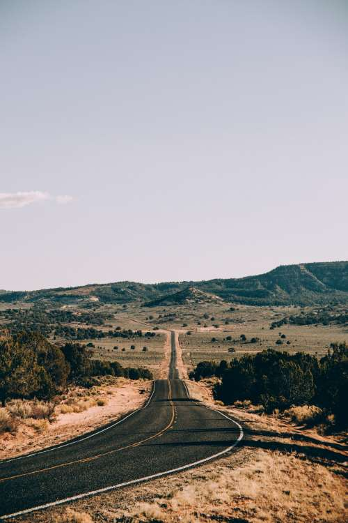 Long Highway In Arizona Desert Photo
