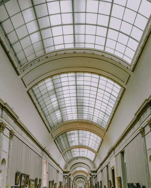Louvre Skylights Photo