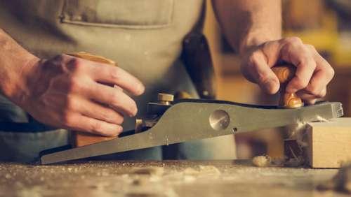 Man Crafting Wood Photo