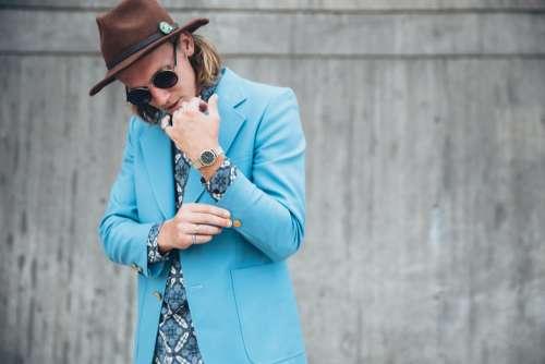 Man In Fashionable Jacket Photo