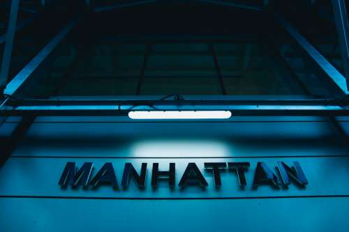 Manhatten Sign Photo