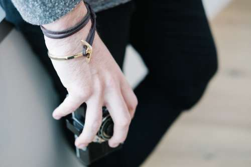 Mens Anchor Bracelet Photo