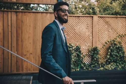 Mens Formalwear & Smile Photo