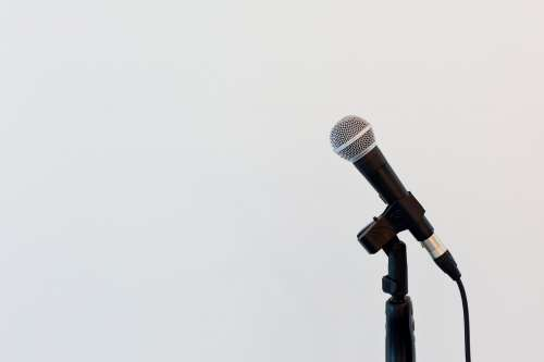 Microphone On Mic Stand Photo