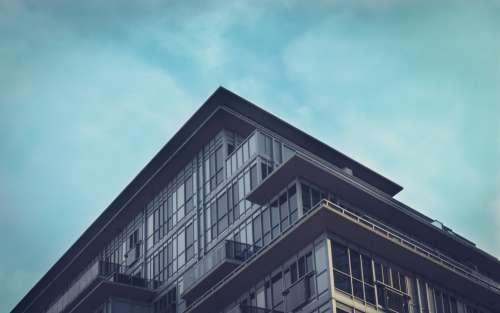 Modern Condo Architecture Blue Sky Photo