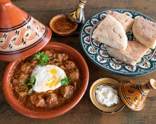 Moroccan Meal In Tagine Photo