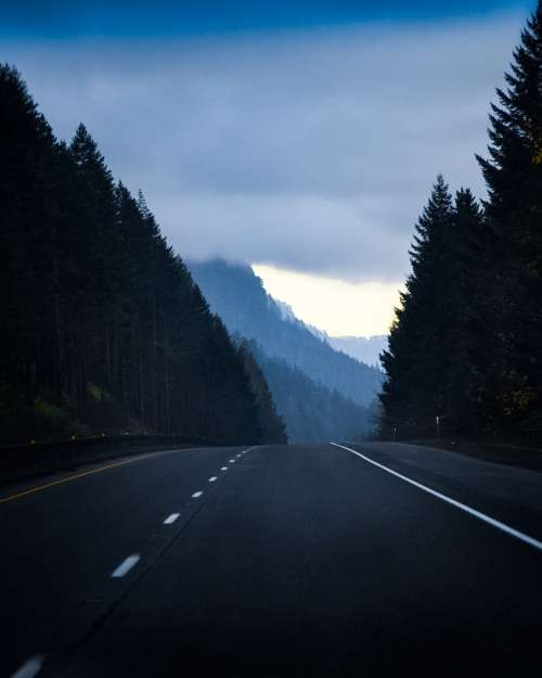 Mountain Road To Nowhere Photo