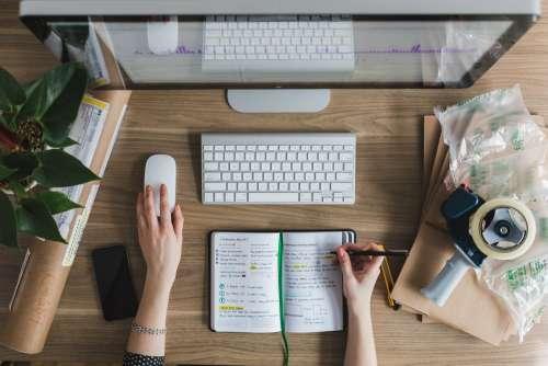 Multitasking At Desk Photo