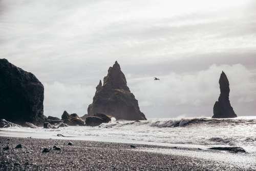 Natural Pillars In Ocean Photo