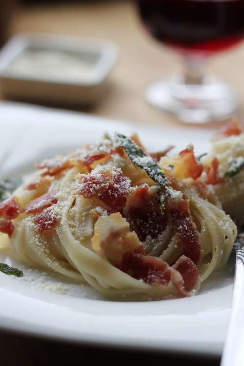 Nested Fresh Pasta Dinner Photo