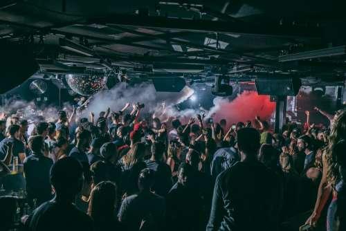 Nightclub Crowd Smoke Machine Photo