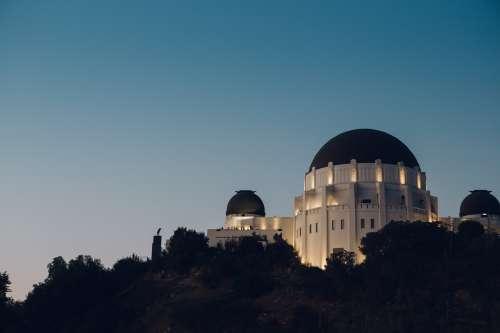 Observatory Lit Under Night Sky Photo