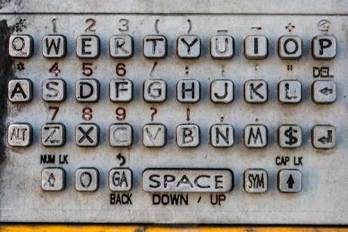Old Payphone Keyboard Photo