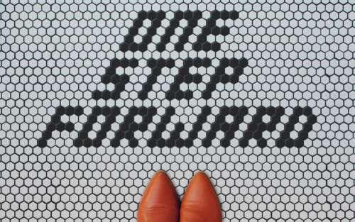 One Step Forward Tiles Photo